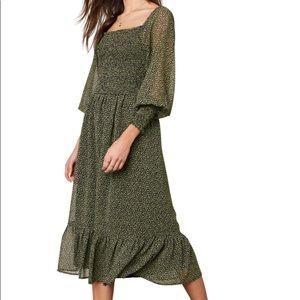 Demi Floral Print Midi Dress